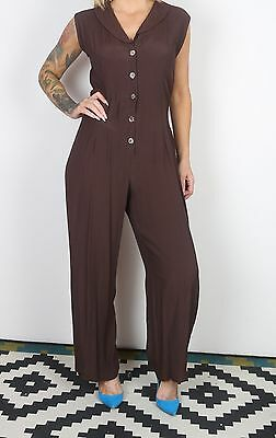 Jumpsuit UK 14 Large  All in one 1980's Vintage  80's (65G)