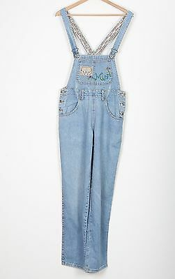 Denim Dungarees PETITE UK 8 XS Fitted  6 XXS Oversized Blue (74N)