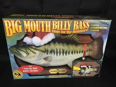 NEW - Original 1999 Gemmy Big Mouth Billy Bass Sings the Holidays Christmas fish
