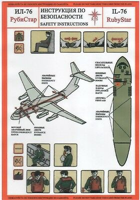 SAFETY CARD: Ruby StarIL-76