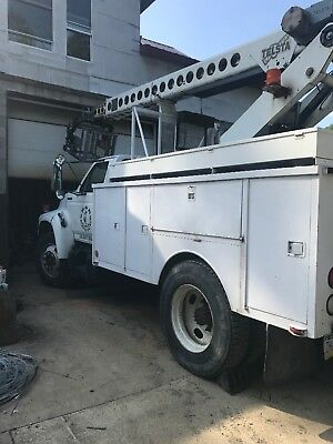 1998 FORD F700 Bucket Truck Cable Placing under CDL