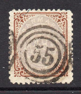 Denmark 48 Skilling Brown/Lilac Stamp c1870 Fine Used