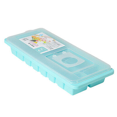 Cavity Ice Cube Tray Box With Lid Cover Drink Jelly Freezer Mold Mould Maker