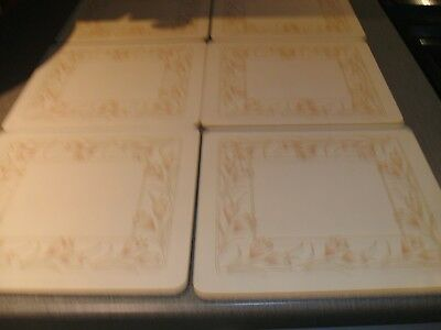Set Of Spring Bouquet Placemats And Coasters - Matches Bilton Tableware - Rare