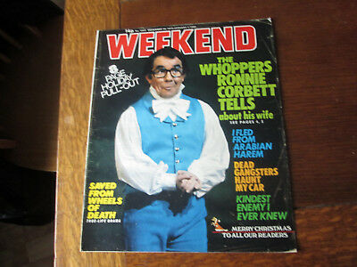 Vintage WEEKEND Magazine JAN 1980 RONNIE CORBETT Cover/Article + Phil Silvers