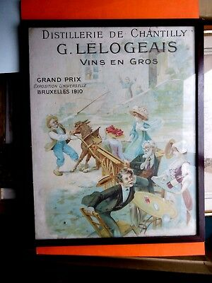 affiche pub ancienne distillerie LELOGEAIS chantilly