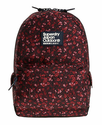 New Womens Superdry Scatter Ditsy Montana Rucksack Berry