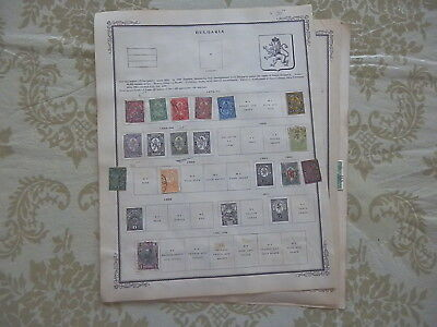 Bulgaria Excellent Old Collection 1879-1913 On Pages Dr Schultz Estate !!8887B