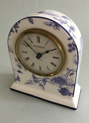 Wedgwood England Bicentenary Celebration Bone China Blue Plum Mantle Clock