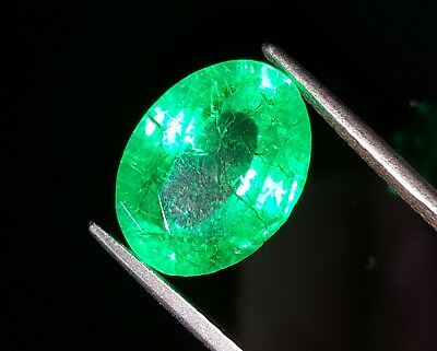 Tremendous 10.07 Ct Natural Oval Shape Certified Colombian Emerald