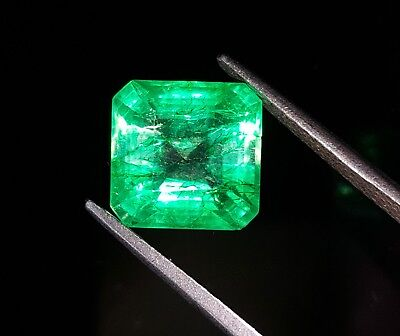Wonderful Square Shape 5.82 Ct Natural With Certified Colombian Emerald