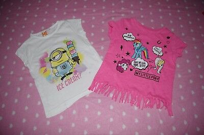 "Lot 2 tee-shirts ""Petit Poney"" + ""Minions"" - 4 ans"