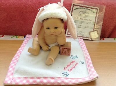 The Ashton Drake Galleries It's Not Easy Being Cute Collectors Doll's COA