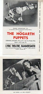 The Hogarth Puppets Muffin the Mule 4 page Flyer Lyric Hammersmith 1949