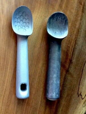 Ice Cream Scoop Metal Vintage Lot Of 2 One Pampered Chef