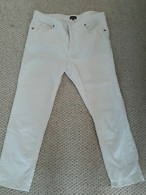 Phase Eight cropped white jeans size 14