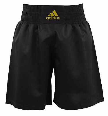 Adidas Boxing Shorts Ultra Light Mens Boxing Training Shorts Black & Gold
