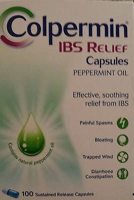 Colpermin IBS capsules peppermint new x100 expiry-2018 UK Free post