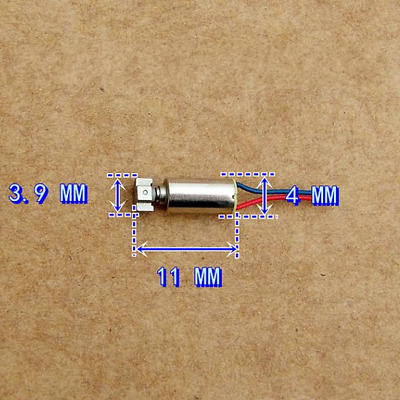 2pcs Mini DC 1.5-5V Vibration Electric Motor 4*8MM Coreless Rated Voltage DC 3V