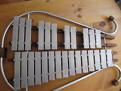 Large Marching Bell Lyra Glockenspiel - C tuned percussion  2 octaves – 26 plate