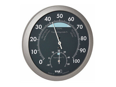 Analog Thermo-hygrometer Thermometer Hygrometer No Battery -15 - +55°C 0 - 100%