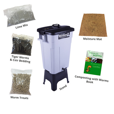 THE DELUXE ORIGINAL WORMERY, Compost Bin, Composting Kit, Kitchen Composter, NEW