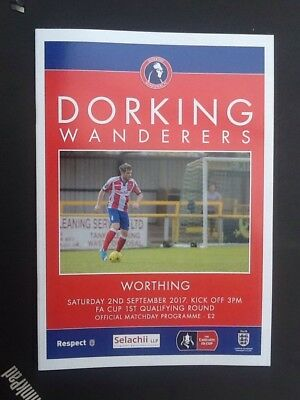 2017/18 DORKING WANDERERS V WORTHING - FA CUP 1st QUALIFYING ROUND - 02/09/17