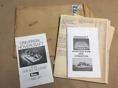 Vintage Universal Hovercraft construction plans/instructions UH-12T4