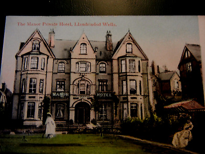 Postcard. Manor Private Hotel .On Lindens Walk.Not posted.