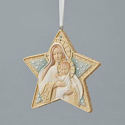 Enesco Foundations Christmas Holiday Mary with Jesus – Star Ornament 4047718
