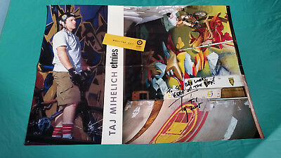 Collectible 2005 Bmx Bike Etnies Wall-Tap Taj Mihelich Signed Poster