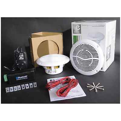 E-Audio Bluetooth Amplifier Ceiling Speaker Kit for Home/Shop's/Cafe's -B-STOCK
