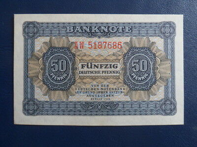 1948 DDR/GDR East German 50 Pfennig Bank Note-First Issue-UNC Cond.17-378