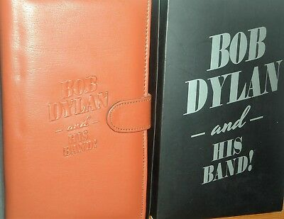 BOB DYLAN & HIS BAND : 2017 European Tour VIP-Only Leather Organiser/Wallet