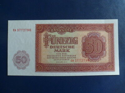1955 DDR/GDR East German  50 Mark Bank Note-UNC Cond.17-382