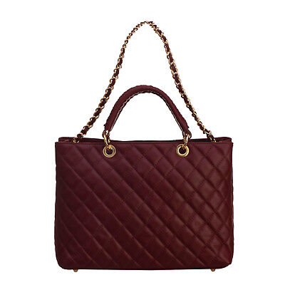 2017/18 Winter Tuscan Excellence Tote Bag Made in Italy Quilted 100% Leather