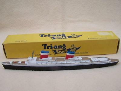 Boxed Tri Ang Minic 1:1200 Ss United States Waterline Ship M 704
