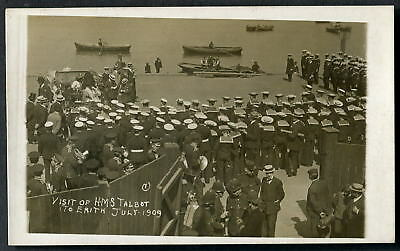 HMS TALBOT Cruiser. Visit to ERITH, 16 July 1909. (& CALLENDER'S BAND). 1909 RP