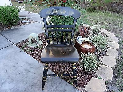 Ethan Allen Black Windsor Hitchcock Chair!
