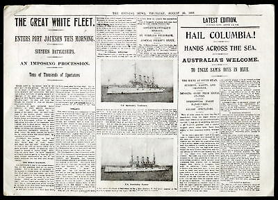 "THE ""GREAT WHITE FLEET"" U.S.Navy's visit to SYDNEY, AUSTRALIA 20 August 1908"