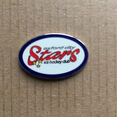 Oxford City Stars Pin Badge Blue and White