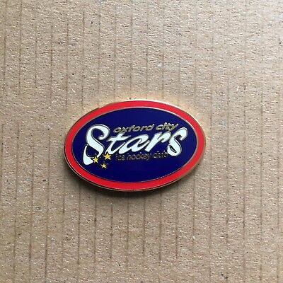 Oxford City Stars Pin Badge Red and Blue