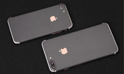 black mobile phone stickers mobile phone shell body film for iPhone 7 7s diy
