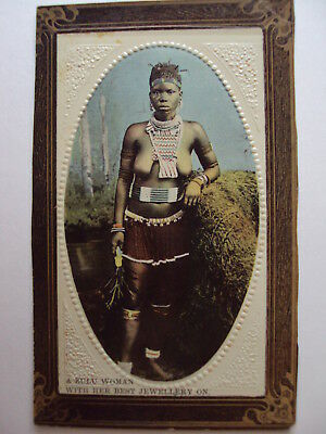 A Zulu Woman with her best jewellery on - circa 1910