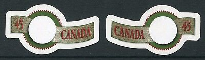 Weeda Canada 1568ii-1569iv VF NH Die cut Greetings from Annual Collection