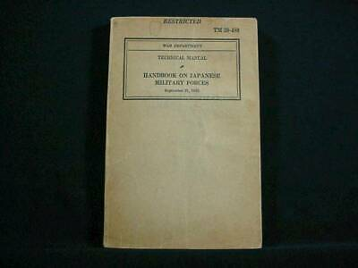 NobleSpirit {3970} Rare WWII War Dept Handbook on Japanese Military Forces