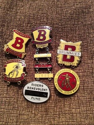 Assortment  of Birmingham Speedway Badges