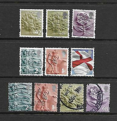GB (Great Britain) Regionals, England, used,   £1.17, £1.40 and others