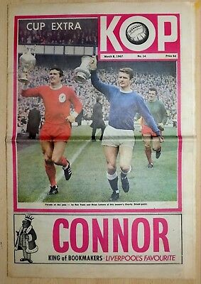 "Original Liverpool Newspaper ""Kop"" No.14 (8/3/67) Cup Extra v Everton"