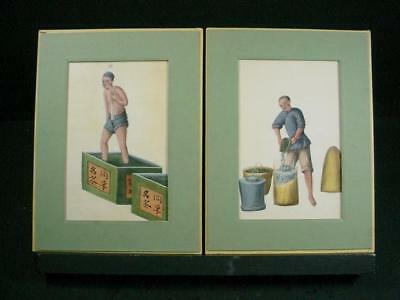 NobleSpirit {3970} Rare Pair of 19th Cent China Wine Making Prints